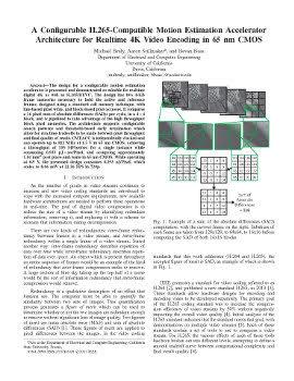 A Configurable H 265-Compatible Motion Estimation